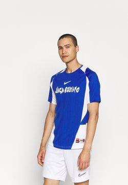 Nike Performance - FC HOME - T-Shirt print - game royal/white/lime glow