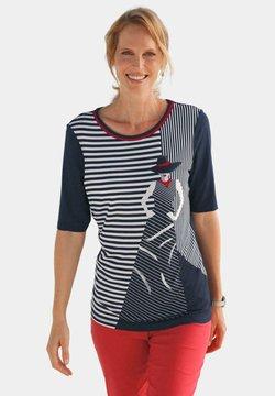ATELIER GS - T-Shirt print - marine / gemustert
