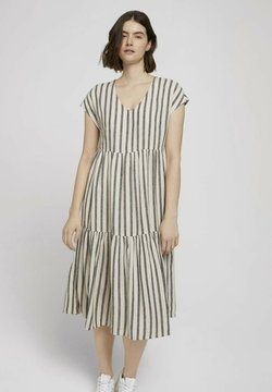 TOM TAILOR DENIM - Freizeitkleid - black beige stripe