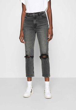 Abercrombie & Fitch - KNEE SLIT  - Jeans a sigaretta - grey wash