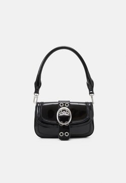 Topshop - PATENT 90S SHOULDER - Handbag - black