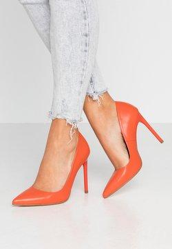Even&Odd - LEATHER PUMP - High Heel Pumps - orange