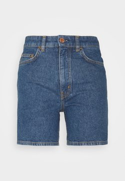 Marc O'Polo DENIM - A-SHAPED FIT MID LENGTH LOOSE TURN UP HEM - Denim shorts - multi/bright 80s mid blue