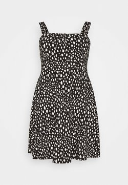 Dorothy Perkins Curve - CURVE STRAPPY DRESS - Jerseyjurk - black