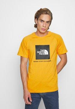 The North Face - RAGLAN TEE  - T-shirt print - summit gold
