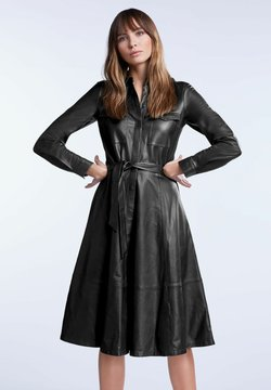 SET - IN A-LINIE - Robe chemise - black