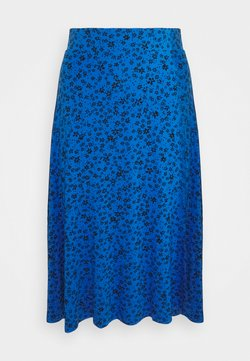 Marks & Spencer London - DITSY SKATER SKIRT - Falda acampanada - blue
