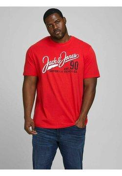 Jack & Jones - JJELOGO TEE O NECK - T-shirt imprimé - true red