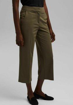 Esprit Collection - CULOTTE - Pantalon classique - dark khaki