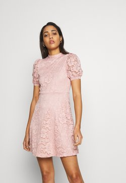 Vila - VILILJA PUFF SLEEVE LACE DRESS - Cocktailkjoler / festkjoler - pale mauve