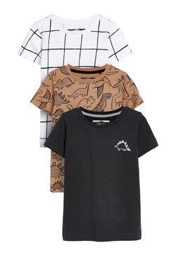 Next - 3 PACK - T-shirt con stampa - beige