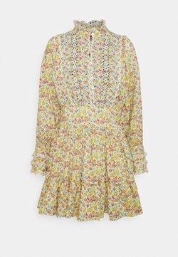 byTiMo - SLUB MINI DRESS - Freizeitkleid - multi-coloured