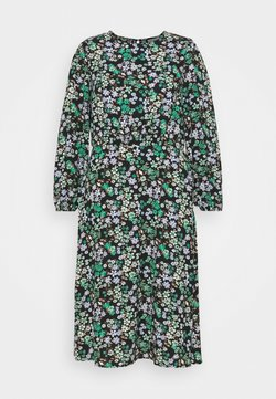 ONLY Carmakoma - CARANEMONY CALF DRESS - Sukienka letnia - black