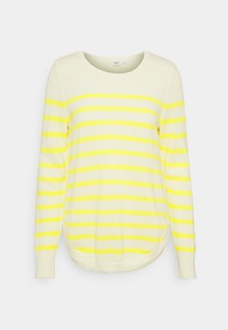 GAP - CURVE HEM CREW - Strickpullover - yellow