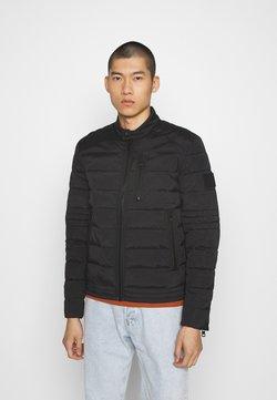 Calvin Klein Jeans - QUILTED PADDED MOTO JACKET - Kurtka przejściowa - black