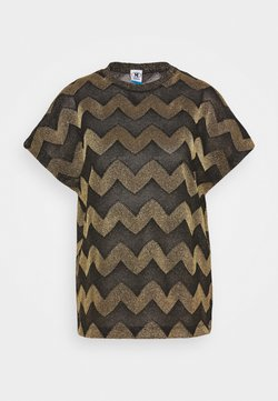 M Missoni - BLUSA - Pusero - black / gold