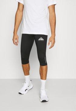 Nike Performance - TRAIL 3/4 - Tights - black/dark smoke grey/white