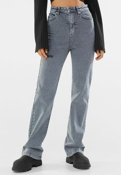 Bershka - Jeans Straight Leg - dark grey