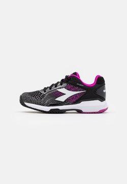 Diadora - SPEED COMPETITION 5 + - Tennisschoenen voor alle ondergronden - black/white/purple
