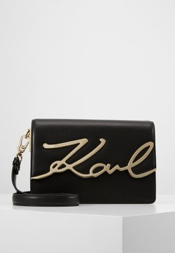 KARL LAGERFELD - SIGNATURE SHOULDERBAG - Torba na ramię - black/gold