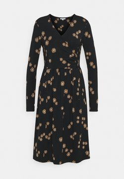 Thought - EVERLY WRAP DRESS - Jerseykleid - black
