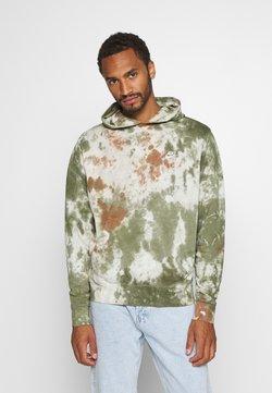 Nike Sportswear - HOODIE DYE - Sweat à capuche - medium olive/white