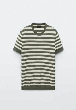 Massimo Dutti - T-shirt con stampa - khaki