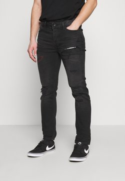 Topman - RIP AND REPAIR - Slim fit jeans - black