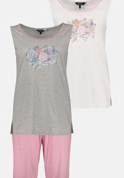 Ulla Popken - 3 PACK - Nachtwäsche Shirt - pinkrosa/grey/white