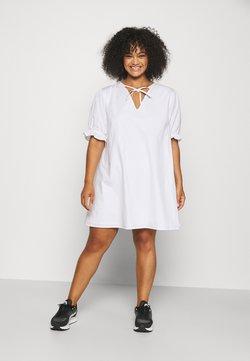 NU-IN - PUFF SLEEVE A LINE MINI DRESS - Kjole - white