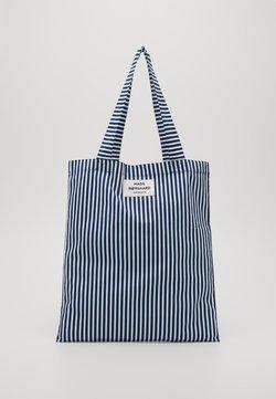 Mads Nørgaard - SOFT ATOMA - Shopping bag - navy/white