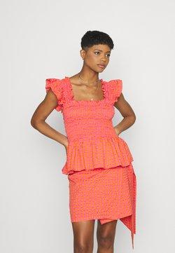 Never Fully Dressed - GINGHAM  - Bluse - orange