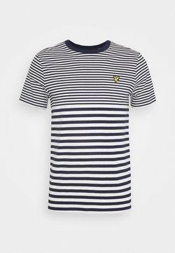 Lyle & Scott - MULTI STRIPE - T-shirt con stampa - navy/vanilla ice