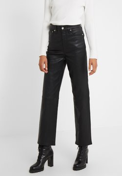 rag & bone - JANE TROUSER - Leather trousers - black