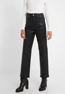 rag & bone - JANE TROUSER - Pantalon en cuir - black