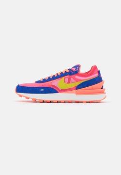 Nike Sportswear - WAFFLE ONE - Sneaker low - racer blue/bright citron/hyper pink/siren red/hyper crimson/sail
