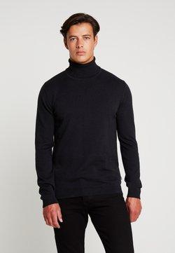 Solid - DRAPER ROLLNECK - Pullover - black