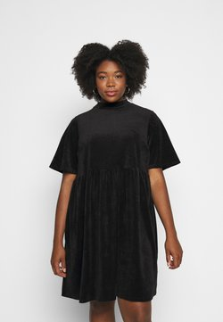 Simply Be - SMOCK DRESS - Freizeitkleid - black