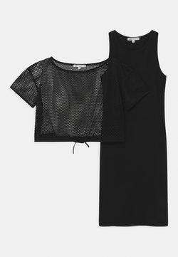 Patrizia Pepe - ABITO RETE 2-IN-1 - Jerseykleid - black