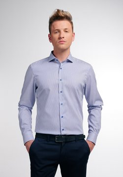 Eterna - SLIM FIT - Hemd - blau/weiß