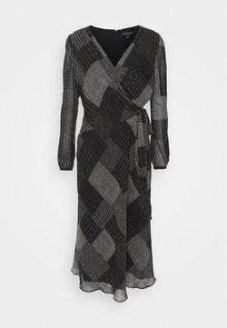Lauren Ralph Lauren - PRINTED DRESS - Vestito estivo - black/grey