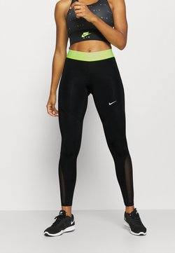 Nike Performance - Tights - black/volt