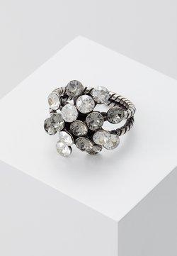 Konplott - Ring - white/antiquesilver-coloured