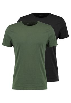 Pier One - 2 PACK - Basic T-shirt - black