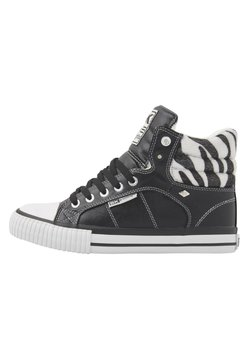 British Knights - SNEAKER ATOLL - Sneaker high - black/zebra