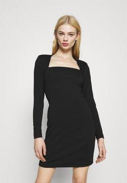 Even&Odd - PADDED SHOULDER DRESS - Vestido ligero - black
