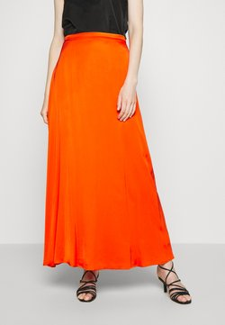 Esprit Collection - DRAPE - Jupe longue - red orange