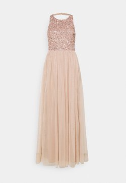 Maya Deluxe - CUT OUT BACK DELICATE SEQUIN MAXI DRESS - Ballkleid - taupe blush