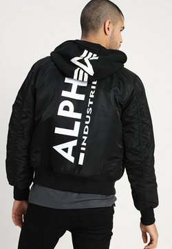 Alpha Industries - TEC BACK PRINT - Bombertakki - black