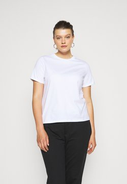 Pieces Curve - PCRIA FOLD UP SOLID TEE - T-shirt basic - bright white
